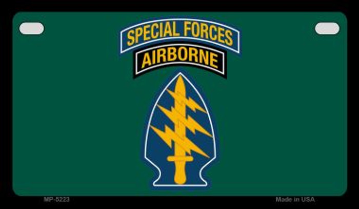 Special Forces Novelty Metal Motorcycle Plate MP-5223