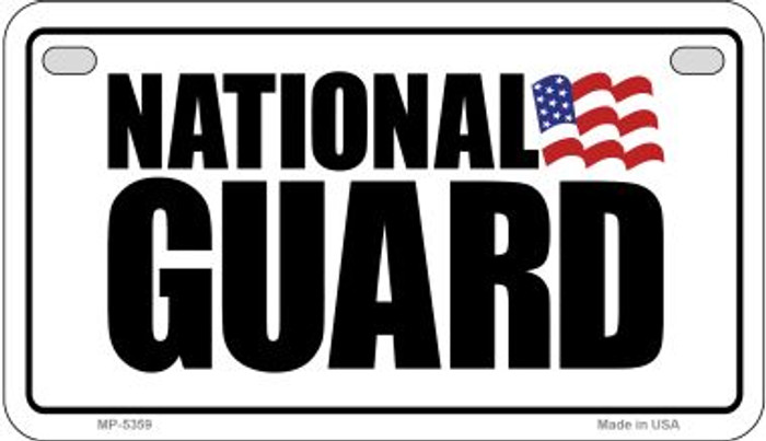 National Guard Novelty Metal Motorcycle Plate MP-5359