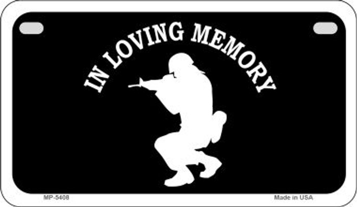 In Loving Memory Squatting Novelty Metal Motorcycle Plate MP-5408