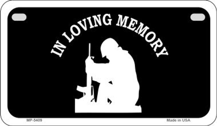 In Loving Memory Sitting Novelty Metal Motorcycle Plate MP-5409