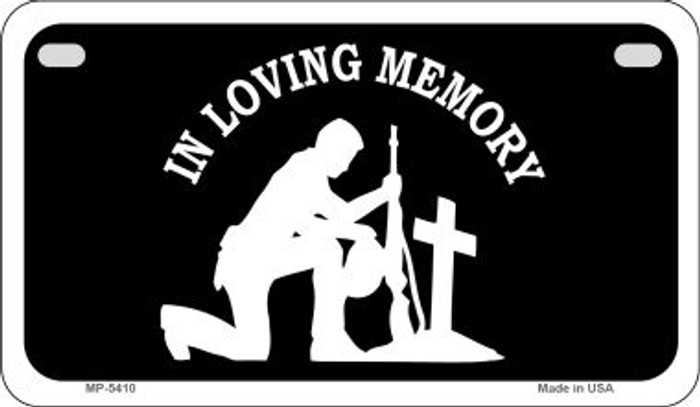 In Loving Memory Cross Novelty Metal Motorcycle Plate MP-5410
