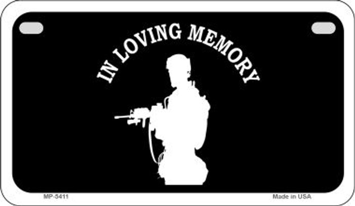 In Loving Memory Standing  Novelty Metal Motorcycle Plate MP-5411