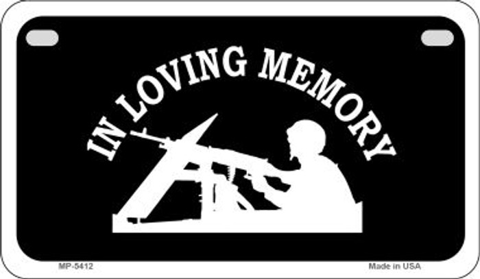 In Loving Memory Lookout Novelty Metal Motorcycle Plate MP-5412