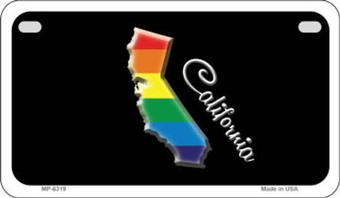 California Rainbow State Novelty Metal Motorcycle Plate MP-6319