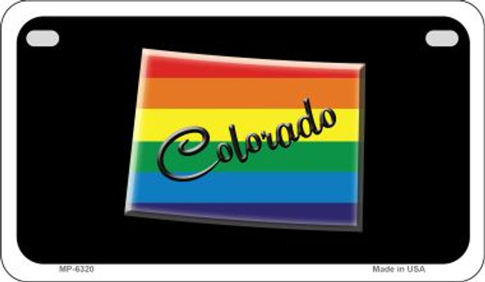 Colorado Rainbow State Novelty Metal Motorcycle Plate MP-6320