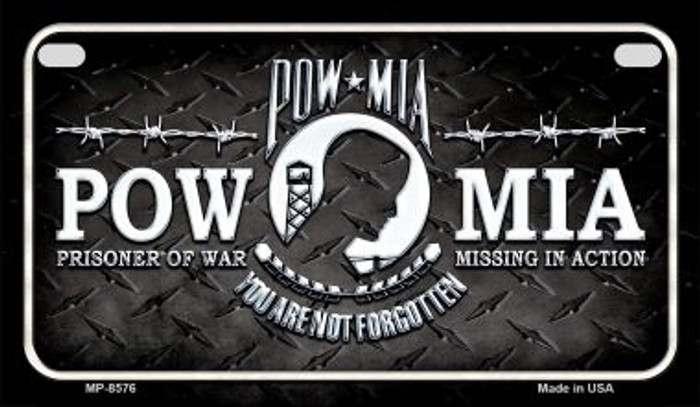 POW MIA Novelty Metal Motorcycle Plate MP-8576