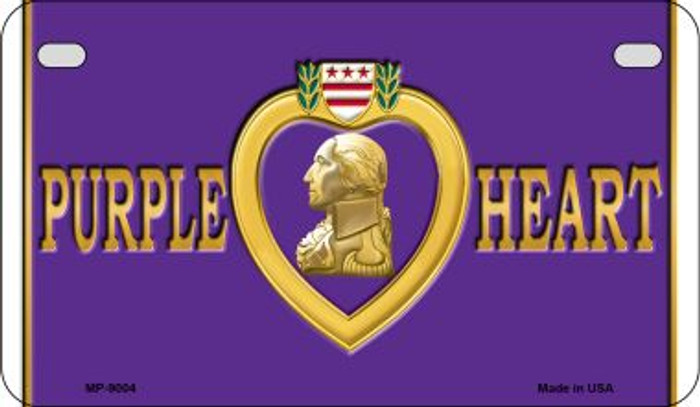 Purple Heart Novelty Metal Motorcycle Plate MP-9004
