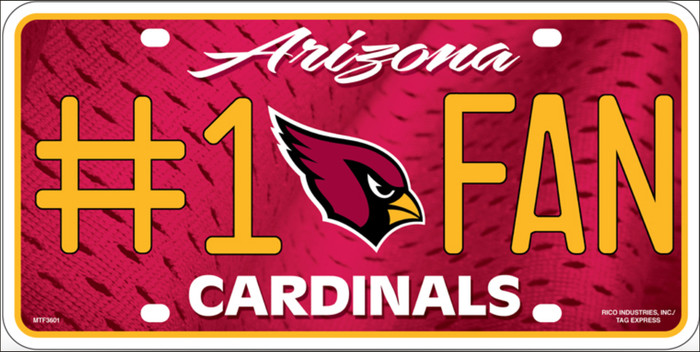 Arizona Cardinals Fan Metal Novelty License Plate LP-760