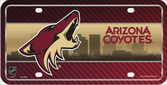 Arizona Coyotes Metal Novelty License Plate LP-775