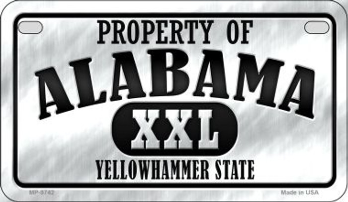 Property Of Alabama Novelty Metal Motorcycle Plate MP-9742