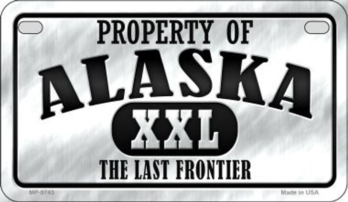 Property Of Alaska Novelty Metal Motorcycle Plate MP-9743