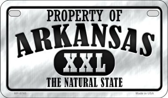 Property Of Arkansas Novelty Metal Motorcycle Plate MP-9745