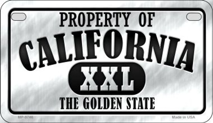Property Of California Novelty Metal Motorcycle Plate MP-9746
