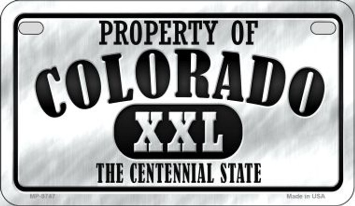 Property Of Colorado Novelty Metal Motorcycle Plate MP-9747