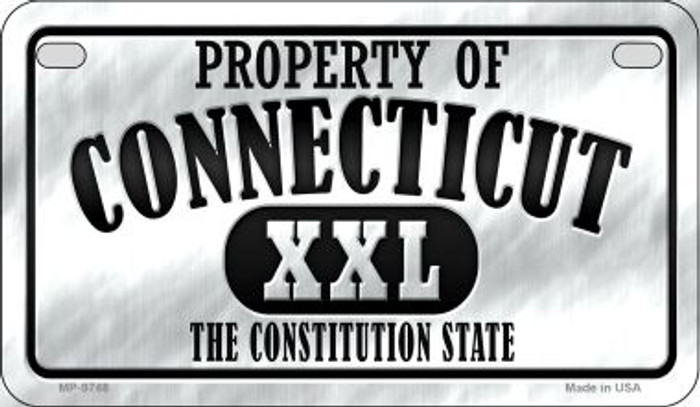 Property Of Connecticut Novelty Metal Motorcycle Plate MP-9748