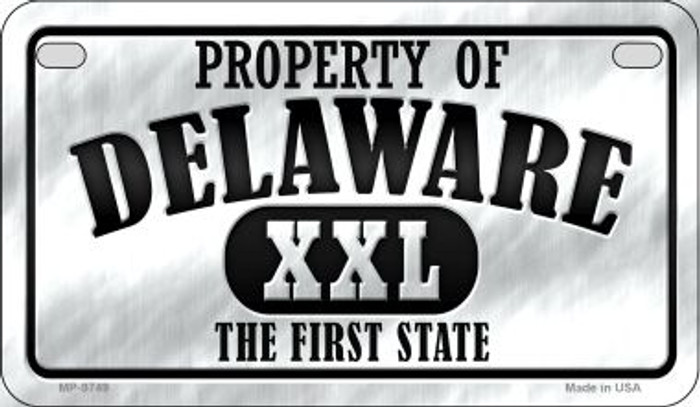 Property Of Delaware Novelty Metal Motorcycle Plate MP-9749