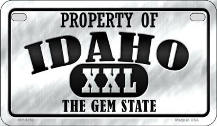 Property Of Idaho Novelty Metal Motorcycle Plate MP-9753