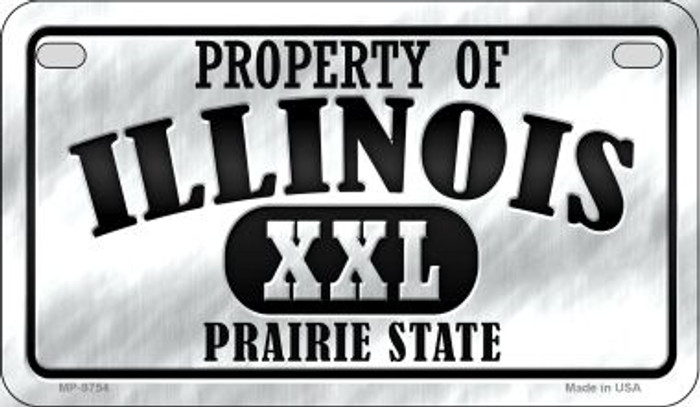 Property Of Illinois Novelty Metal Motorcycle Plate MP-9754