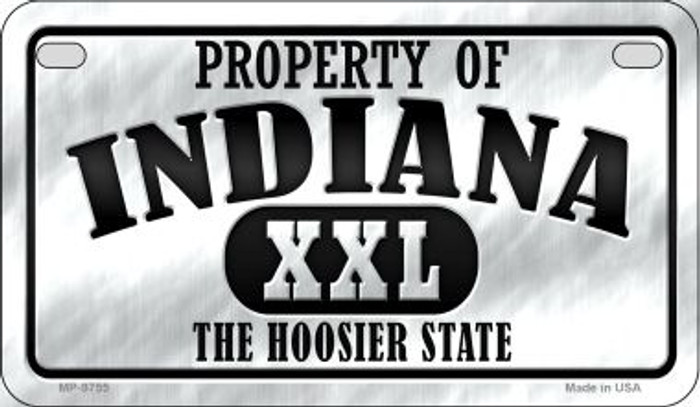 Property Of Indiana Novelty Metal Motorcycle Plate MP-9755