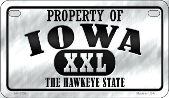 Property Of Iowa Novelty Metal Motorcycle Plate MP-9756