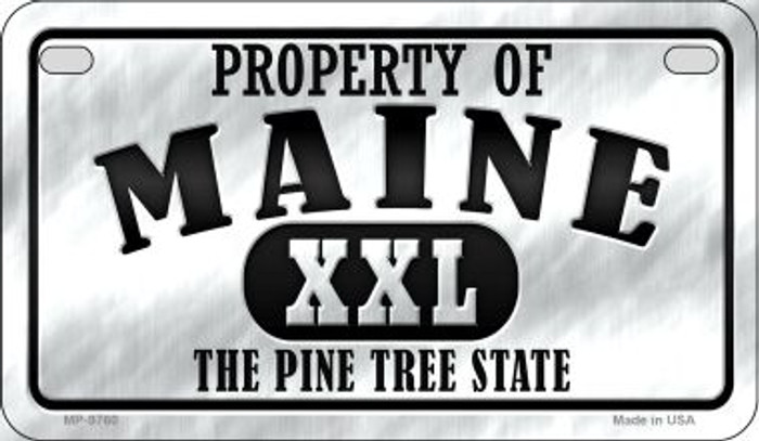 Property Of Maine Novelty Metal Motorcycle Plate MP-9760