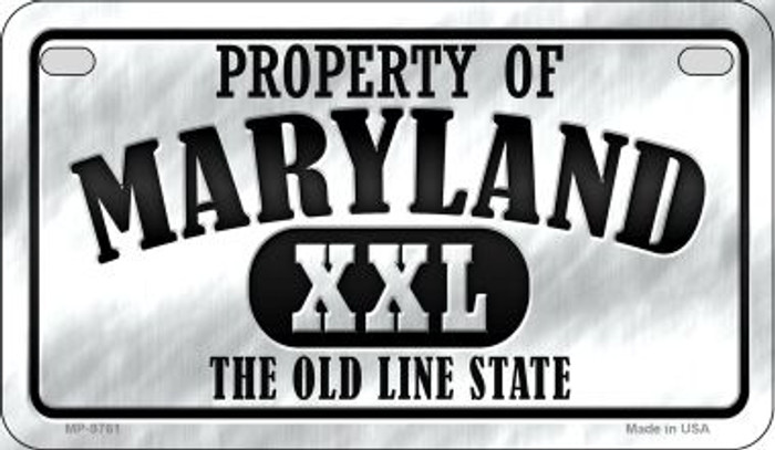 Property Of Maryland Novelty Metal Motorcycle Plate MP-9761