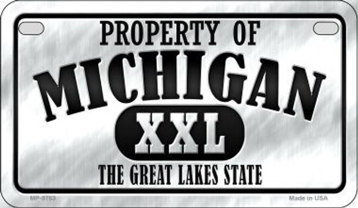 Property Of Michigan Novelty Metal Motorcycle Plate MP-9763