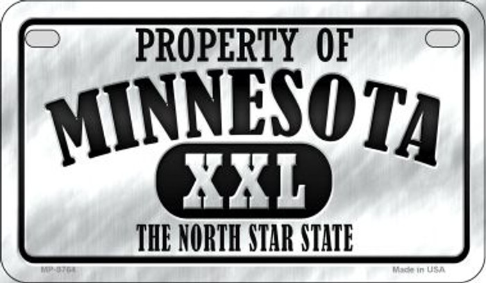 Property Of Minnesota Novelty Metal Motorcycle Plate MP-9764