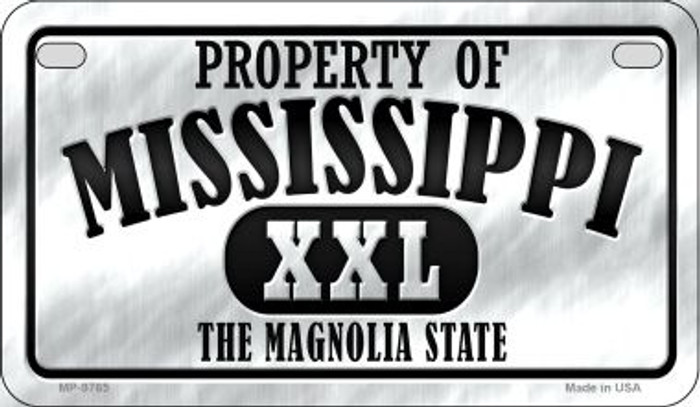 Property Of Mississippi Novelty Metal Motorcycle Plate MP-9765
