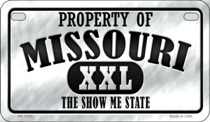 Property Of Missouri Novelty Metal Motorcycle Plate MP-9766