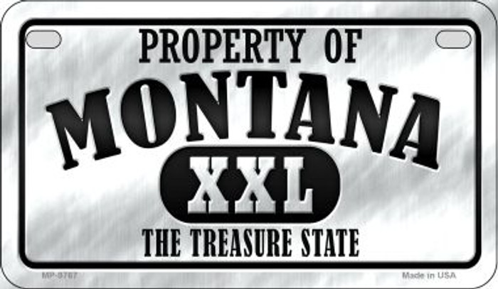 Property Of Montana Novelty Metal Motorcycle Plate MP-9767