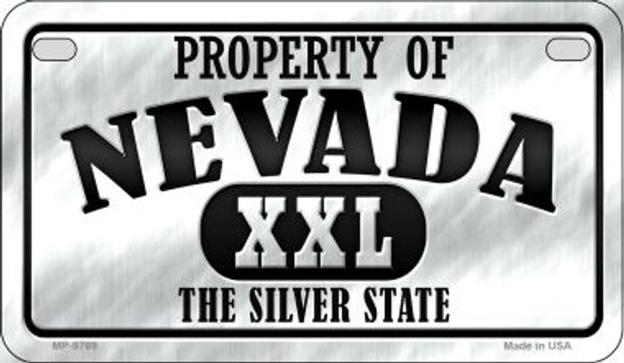 Property Of Nevada Novelty Metal Motorcycle Plate MP-9769