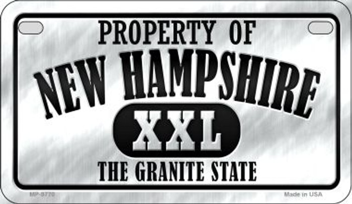 Property Of New Hampshire Novelty Metal Motorcycle Plate MP-9770