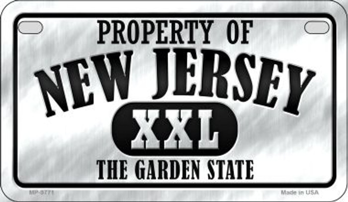 Property Of New Jersey Novelty Metal Motorcycle Plate MP-9771