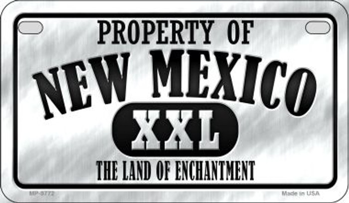 Property Of New Mexico Novelty Metal Motorcycle Plate MP-9772