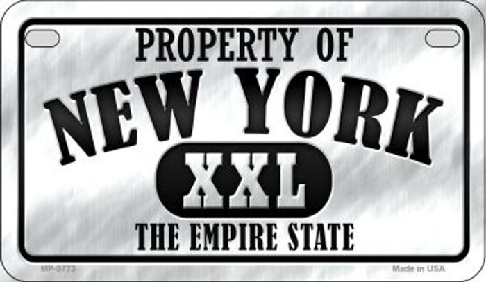 Property Of New York Novelty Metal Motorcycle Plate MP-9773