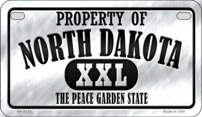 Property Of North Dakota Novelty Metal Motorcycle Plate MP-9775