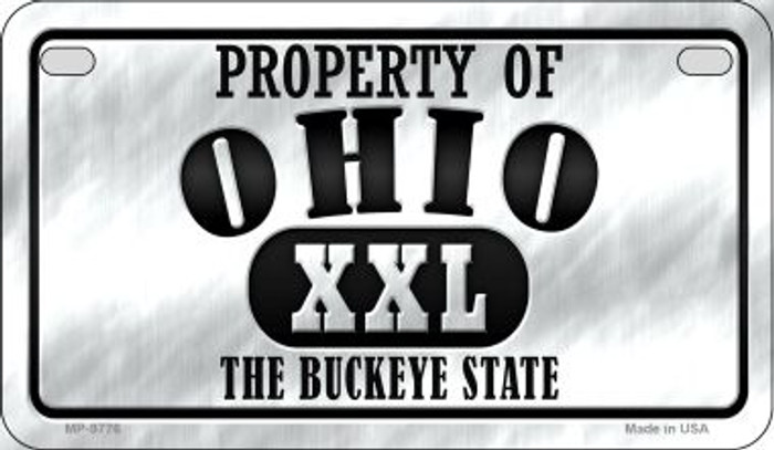 Property Of Ohio Novelty Metal Motorcycle Plate MP-9776