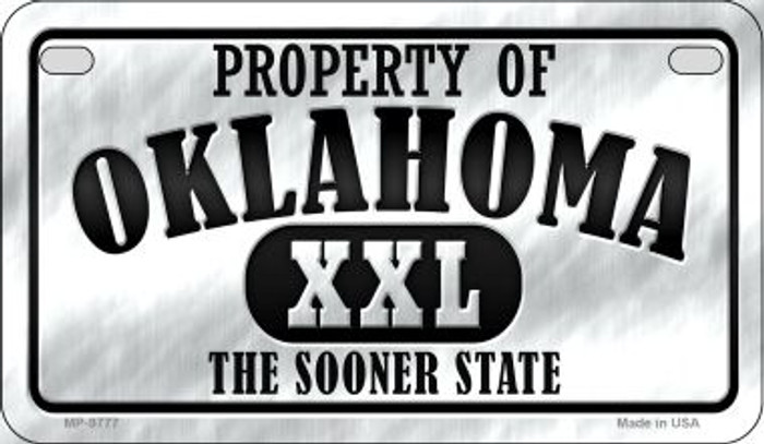 Property Of Oklahoma Novelty Metal Motorcycle Plate MP-9777