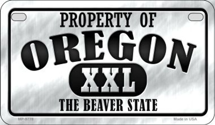 Property Of Oregon Novelty Metal Motorcycle Plate MP-9778