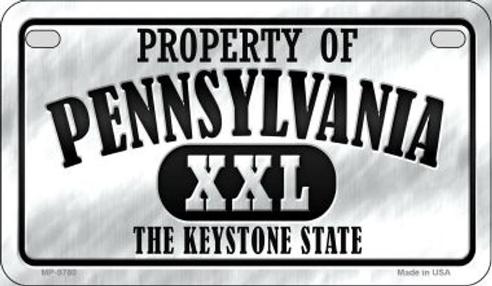 Property Of Pennsylvania Novelty Metal Motorcycle Plate MP-9779