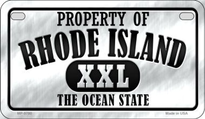 Property Of Rhode Island Novelty Metal Motorcycle Plate MP-9780