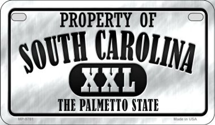 Property Of South Carolina Novelty Metal Motorcycle Plate MP-9781