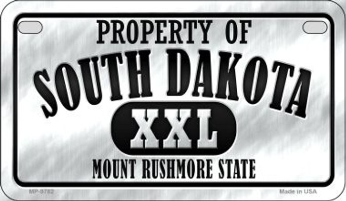 Property Of South Dakota Novelty Metal Motorcycle Plate MP-9782