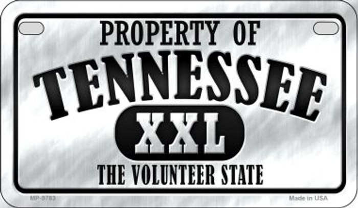Property Of Tennessee Novelty Metal Motorcycle Plate MP-9783