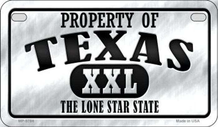 Property Of Texas Novelty Metal Motorcycle Plate MP-9784
