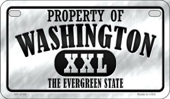 Property Of Washington Novelty Metal Motorcycle Plate MP-9788