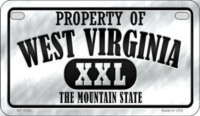 Property Of West Virginia Novelty Metal Motorcycle Plate MP-9789