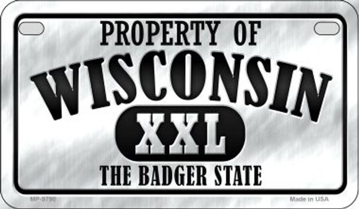 Property Of Wisconsin Novelty Metal Motorcycle Plate MP-9790