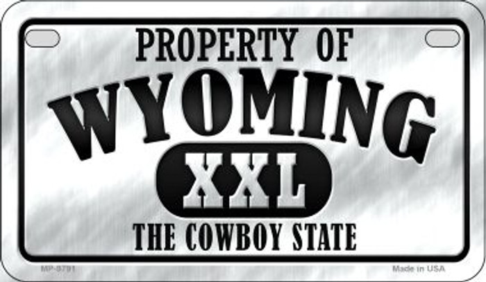 Property Of Wyoming Novelty Metal Motorcycle Plate MP-9791